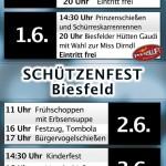 Plakat Schützenfest 2013 Programm