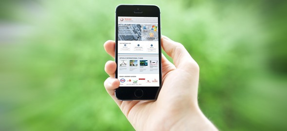 Smartphone MockUp Webseite