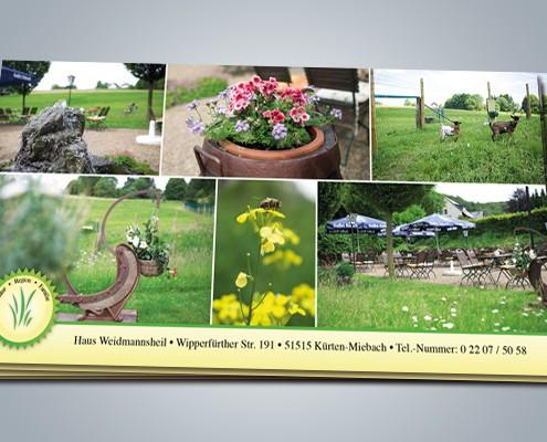 Postkarte Weidmannsheil Rückseite
