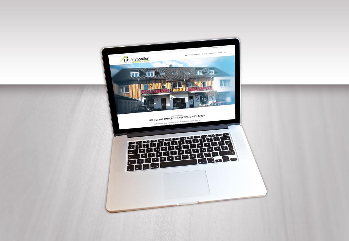 H+L Immobilien Desktop Mockup