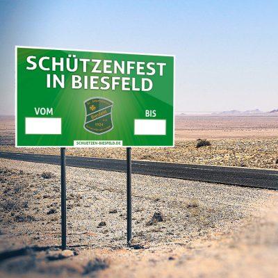 Schild Schützenfest Mockup